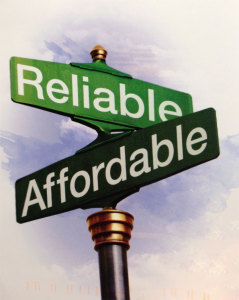 reliable and affordable sign